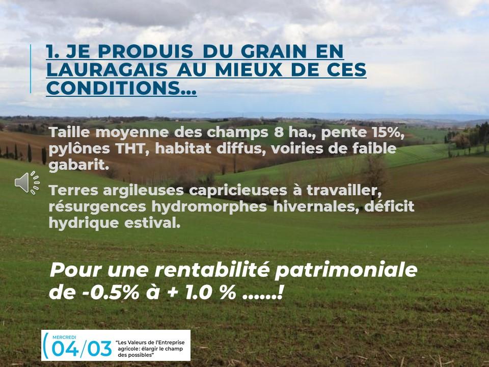 12.4 Valeurs de l'entreprise agricole - Dominique Rougeau