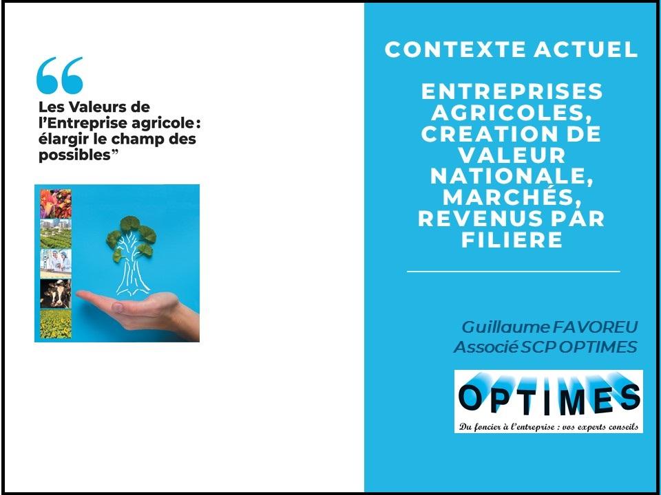 2. Valeurs de l'entreprise agricole - contexte économique - G. Favoreu